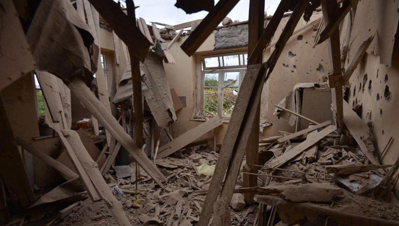 Dotychczas informacje na temat ofiar i rannych w konflikcie są rozbieżne (fot. PAP/EPA/ARMENIAN FOREIGN MINISTRY PRESS OFFICE / HANDOUT)