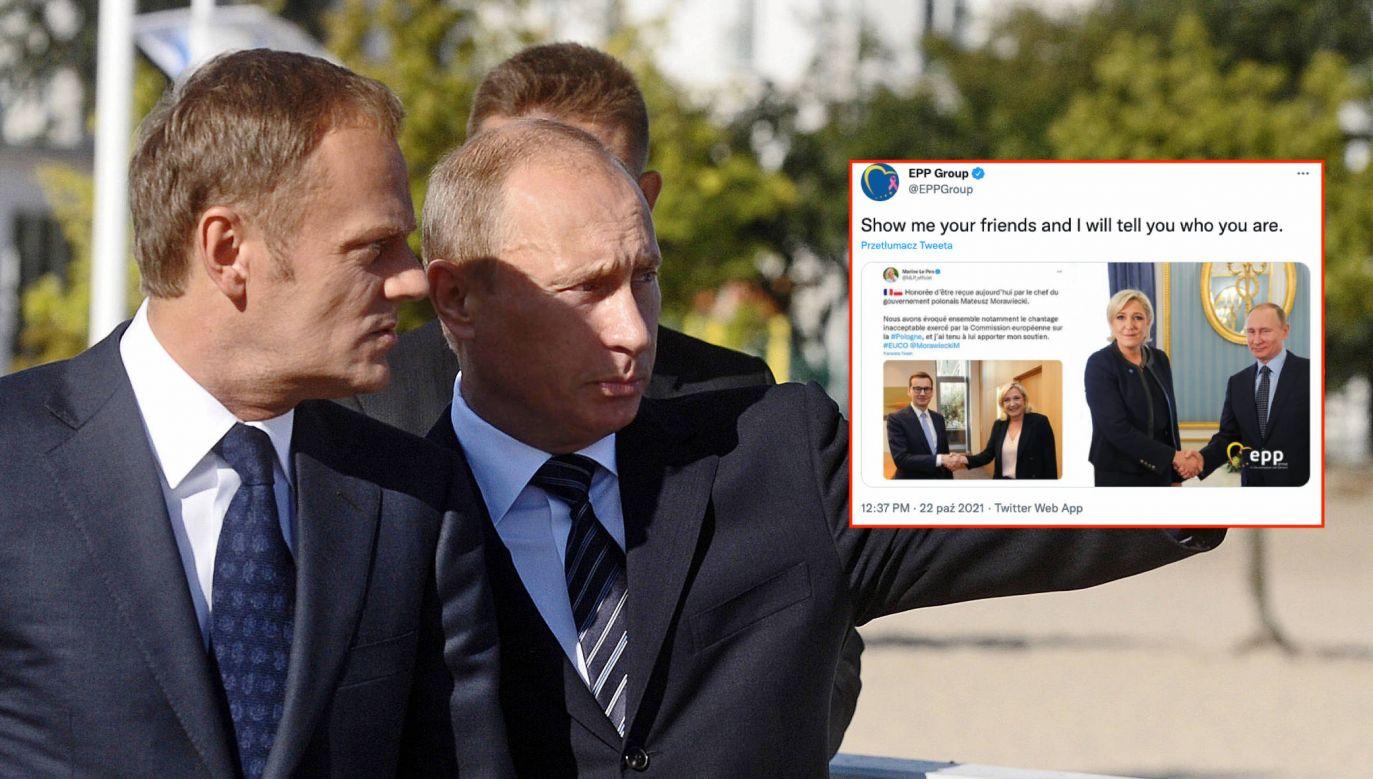 Donald Tusk i Władimir Putin (fot. ITAR-TASS / Stanislav Krasilnikov, PAP)