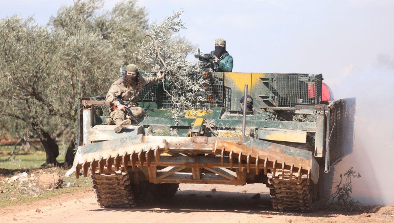 Syryjska Armia Narodowa może liczyć na wsparcie tureckich wojsk (fot. EPA/YAHYA NEMAH)