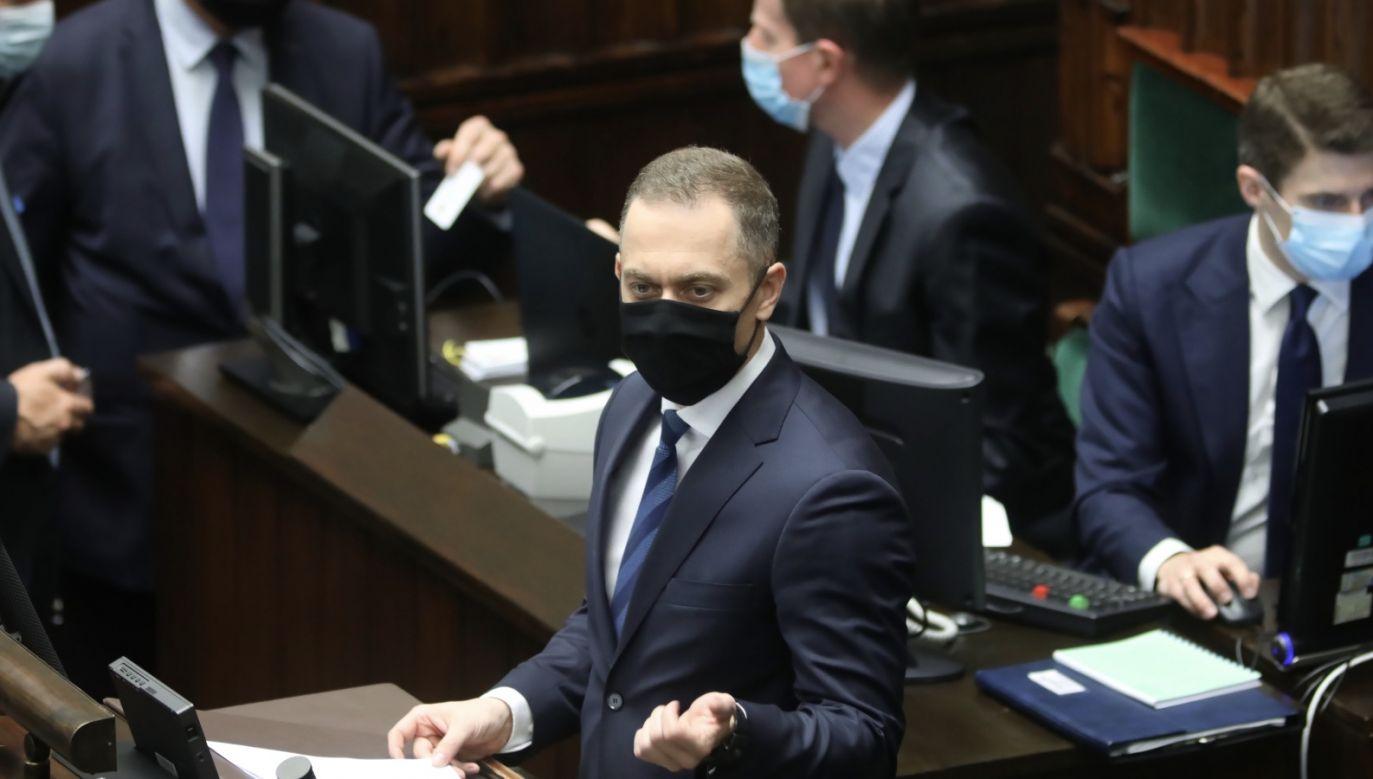 Wicemarszałek Sejmu Ryszard Terlecki zarządził przerwę na Konwent Seniorów (fot. PAP/Leszek Szymański)
