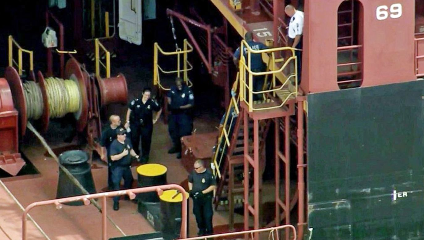 Członkowie załogi statku zostali aresztowani (fot. TT/Philly Informer)