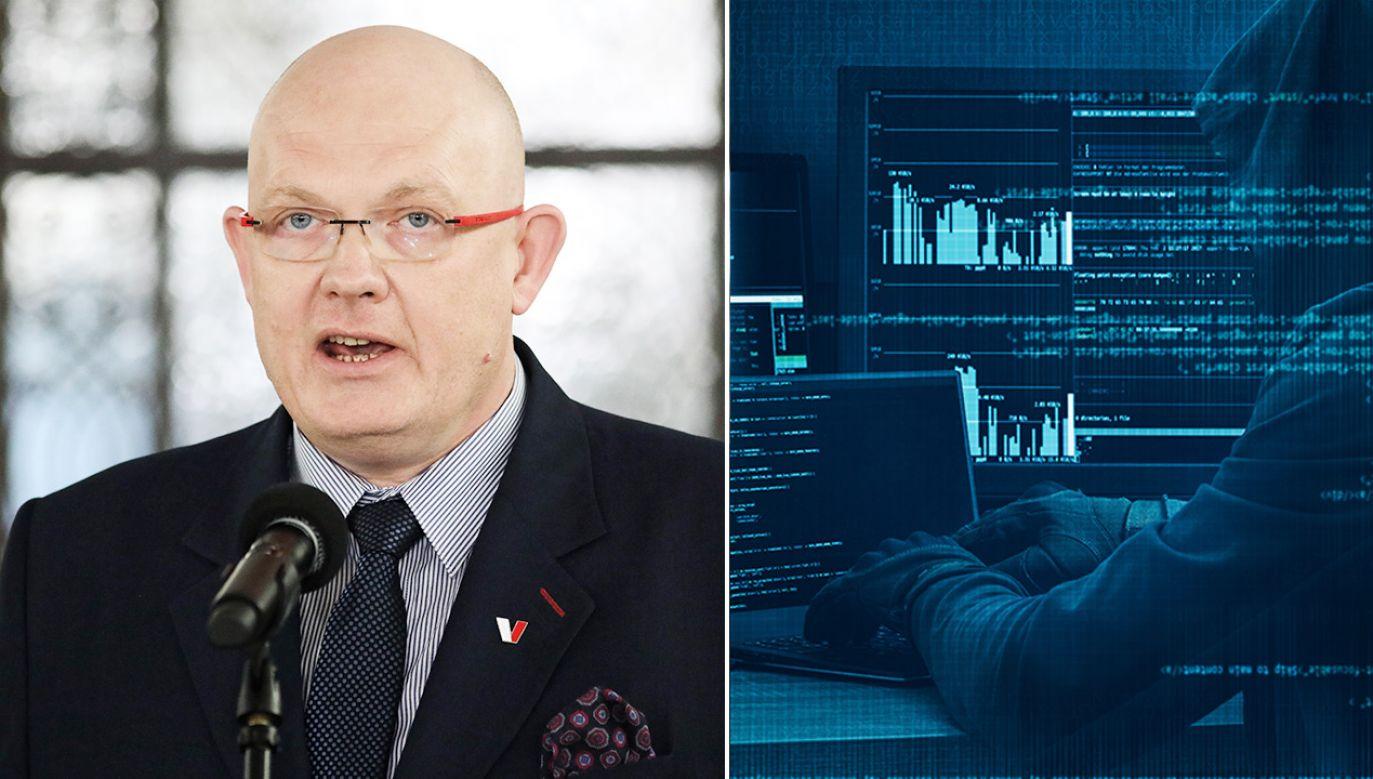 Według posła Gramatyki cyberatak, nad którym pracują polskie służby i eksperci NATO, nie miał miejsca (fot. PAP/Leszek Szymański; Shutterstock)