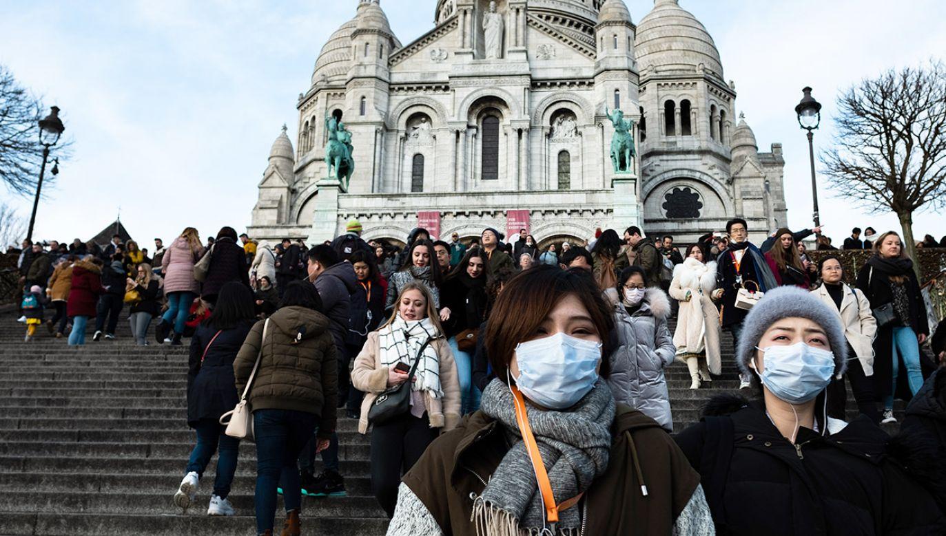 Francuskie ministerstwo zdrowia poinformowało o czwartym przypadku zakażenia koronawirusem (fot. Jerome Gilles/NurPhoto via Getty Images)