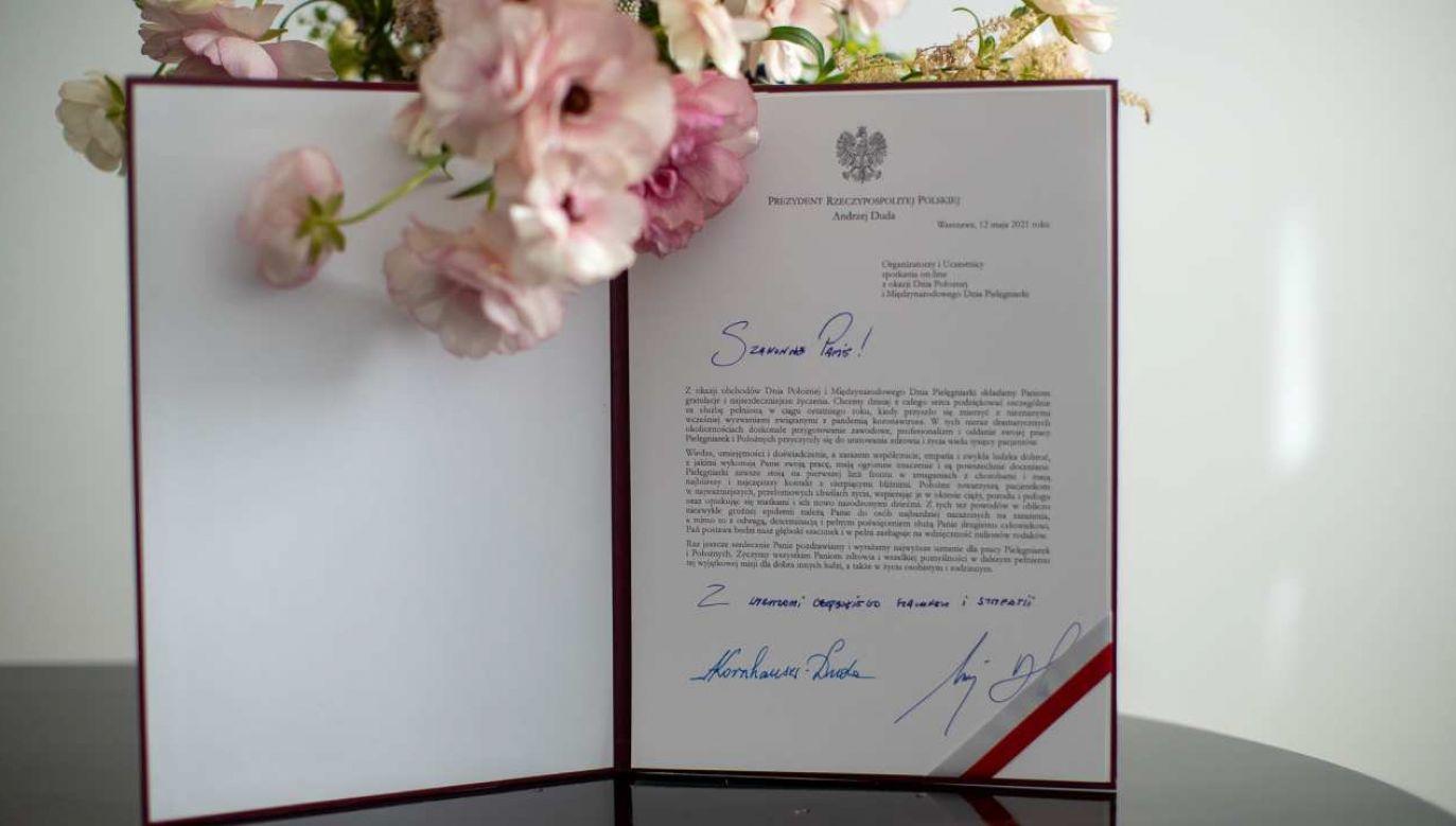Para prezydencka w liście do pielęgniarek i położnych: Chcemy z całego serca podziękować za służbę (fot. KPRP/Marek Borawski)