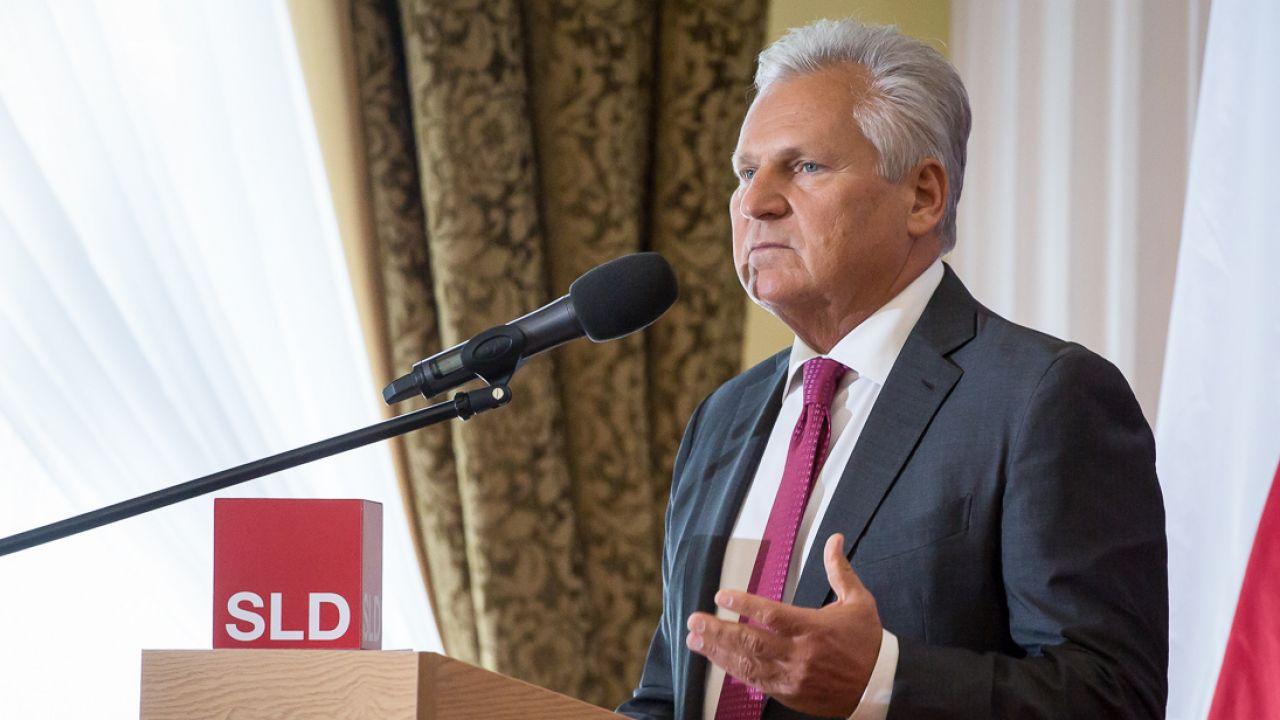 Były prezydent Aleksander Kwaśniewski (fot. Mateusz Wlodarczyk/NurPhoto via Getty Images)