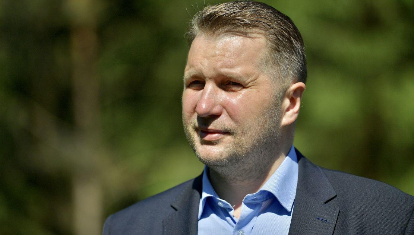 Przemysław Czarnek odpowiada krytykom nowelizacji ustawy (fot. PAP/Przemysław Piątkowski)