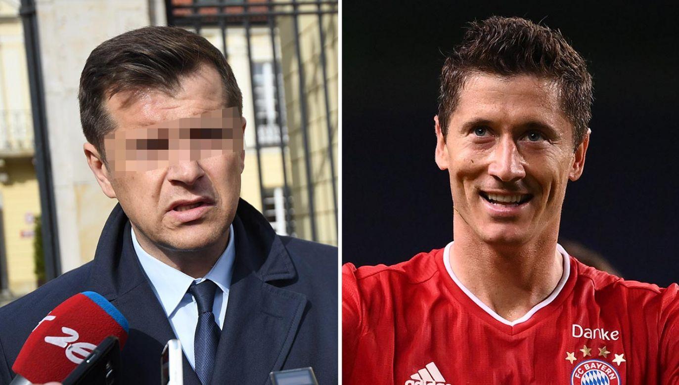 Cezary K. usłyszał dodatkowe zarzuty w śledztwie dot. szantażowania Lewandowskiego (fot. PAP/Bartłomiej Zborowski;  Franck Fife/Pool via Getty Images)