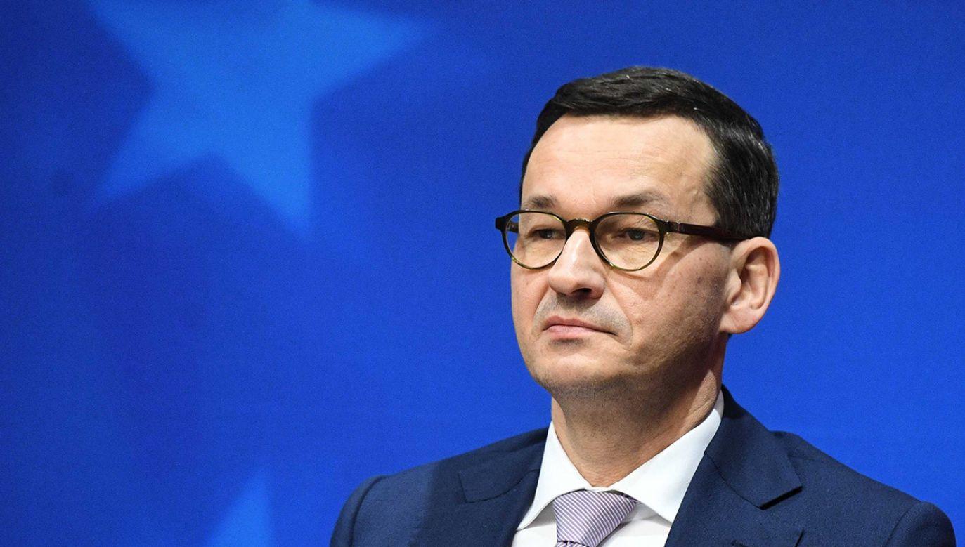 Premier RP Mateusz Morawiecki (fot. PAP/Radek Pietruszka)