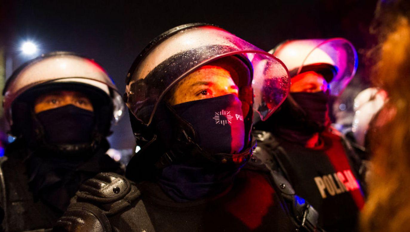 Policja przygotowuje się na weekendowe protesty (fot. Piotr Lapinski/NurPhoto via Getty Images)