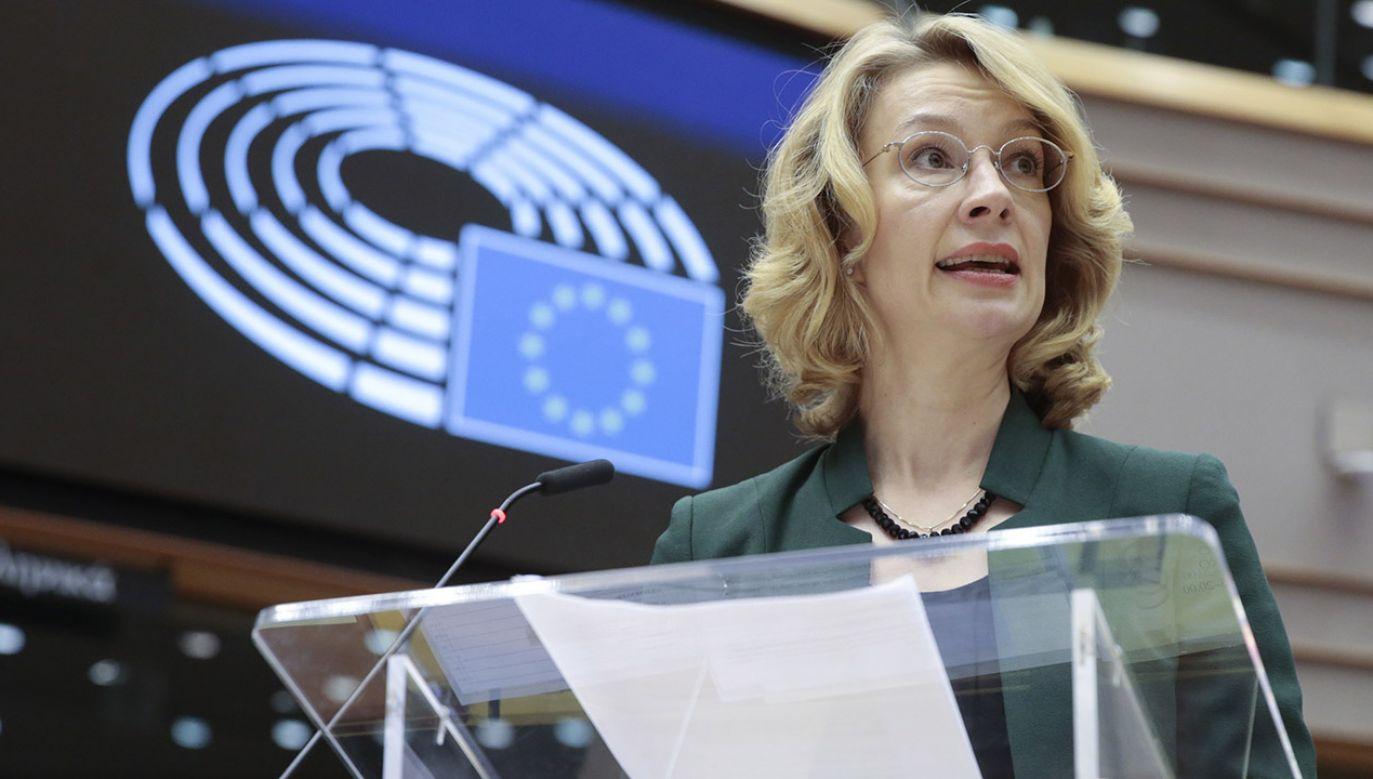 Fińska minister spraw europejskich Tytti Tuppurainen (fot. PAP/ EPA/OLIVIER HOSLET)
