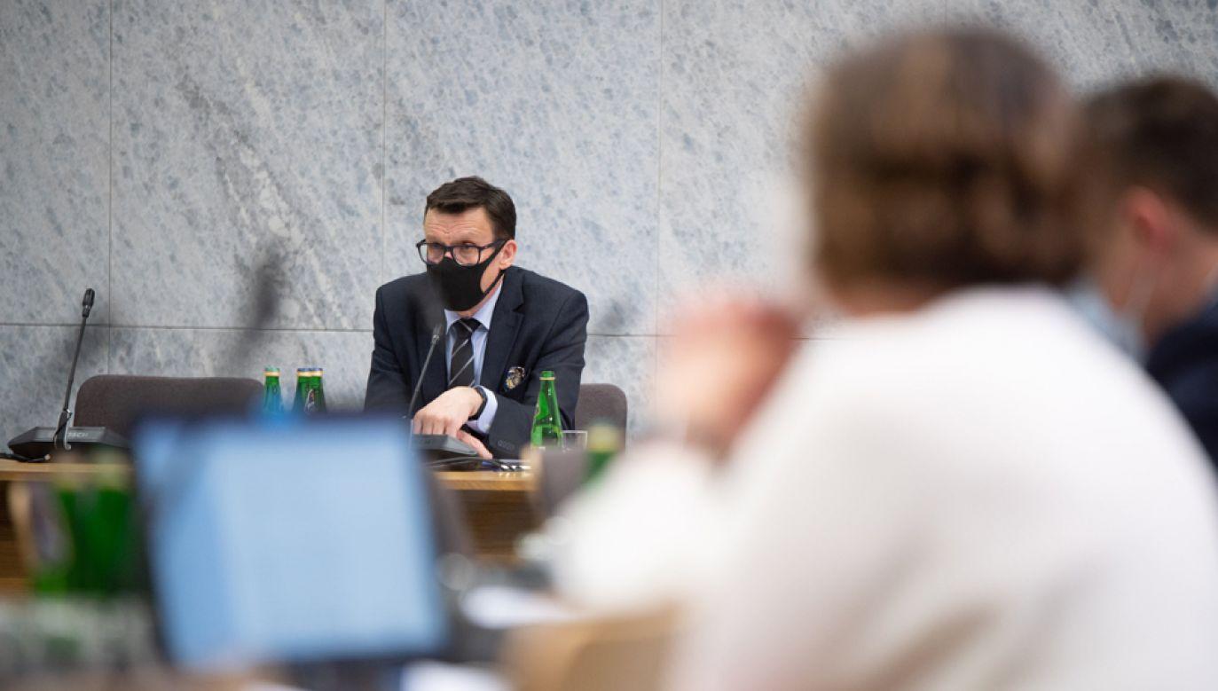 Posiedzenie komisji zaplanowano na godz. 18.00 (fot. Twitter/@KancelariaSejmu)