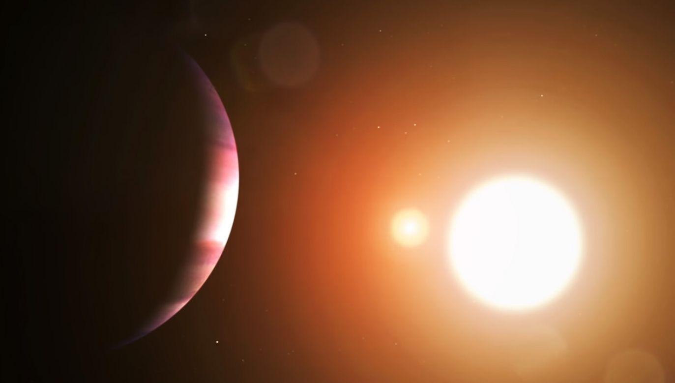Planeta TOI-1338 b waży 6,9 razy tyle, co Ziemia i jest od nas odległa o 1300 lat świetlnych (fot. NASA-ilustracja)
