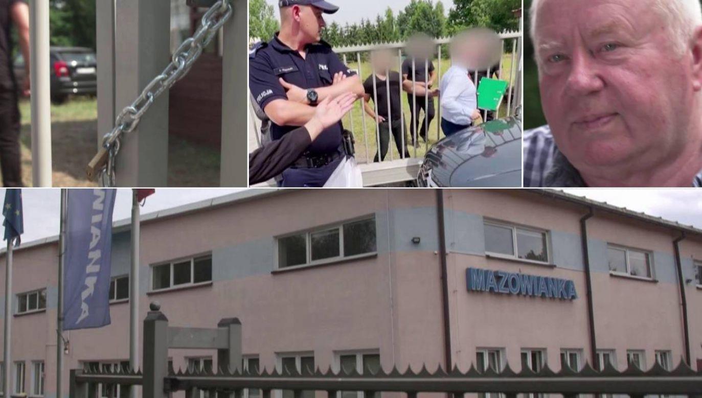 """W firmie """"Mazowianka"""" dzieją się niepokojące rzeczy (fot. TVP1)"""
