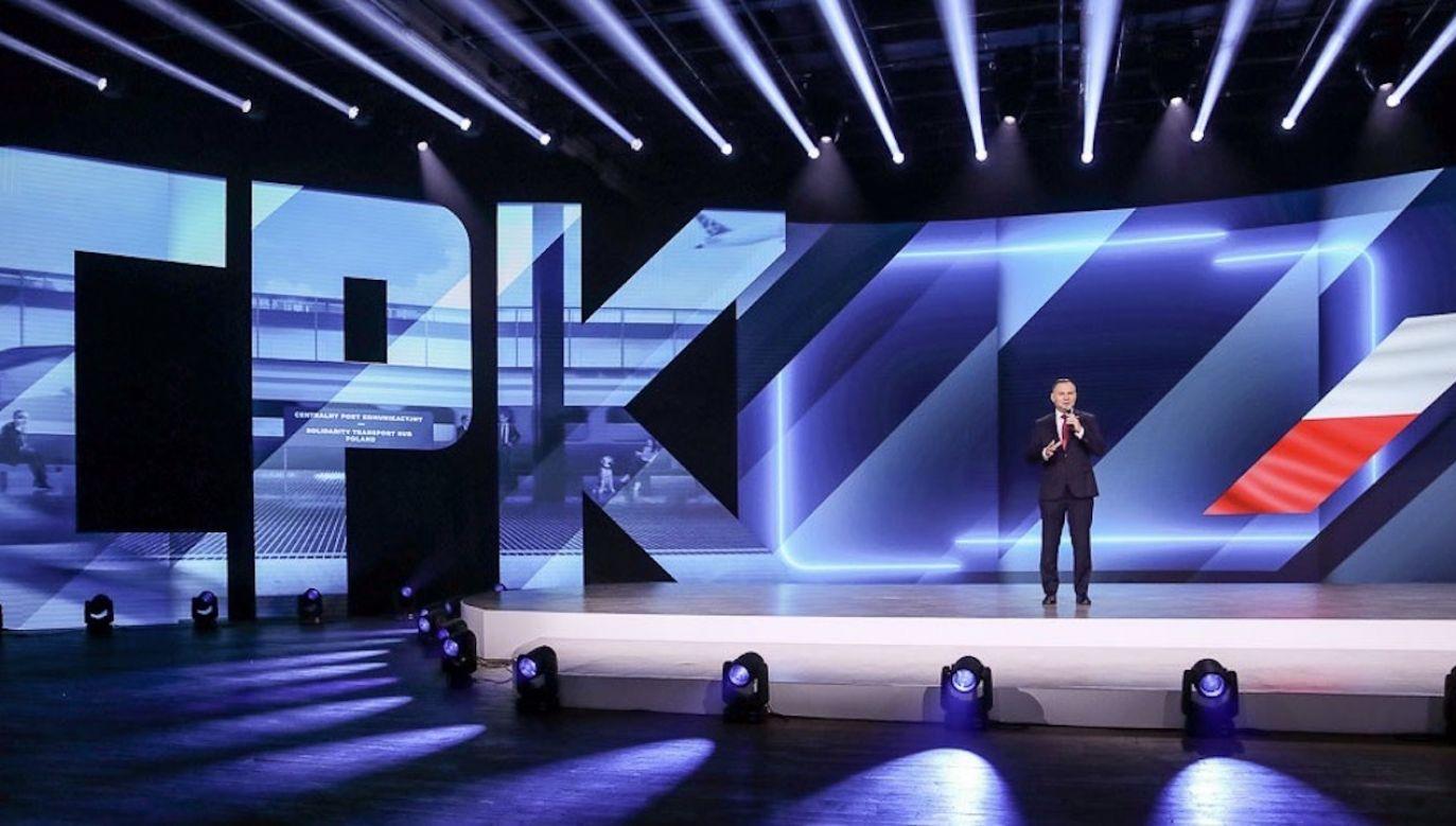 Prezydent Andrzej Duda o CPK (fot. Grzegorz Jakubowski/KPRP)
