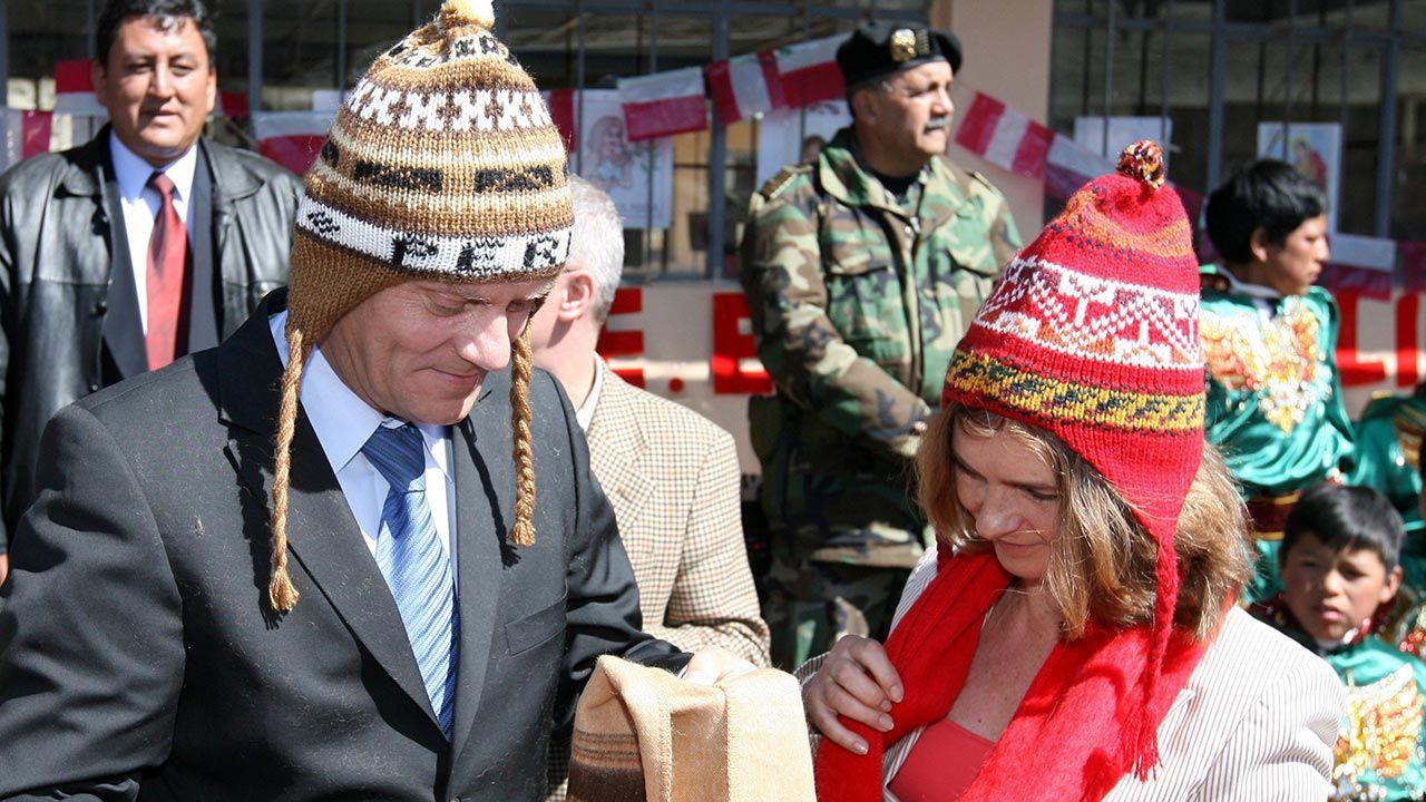 Donald Tusk w czasie wizyty w Peru w 2008 roku (fot. PAP/Radek Pietruszka)