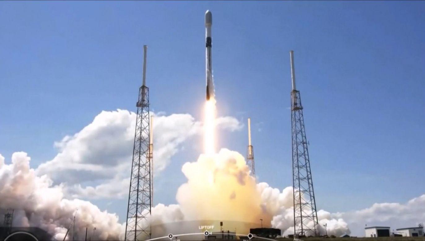 Lot rakiety Falcon 9 (fot. EBU/SPACEX)