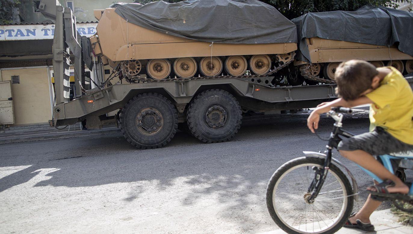 Turecka ofensywa na Syrię ruszyła 9 października. (fot. PAP/EPA/ERDEM SAHIN)