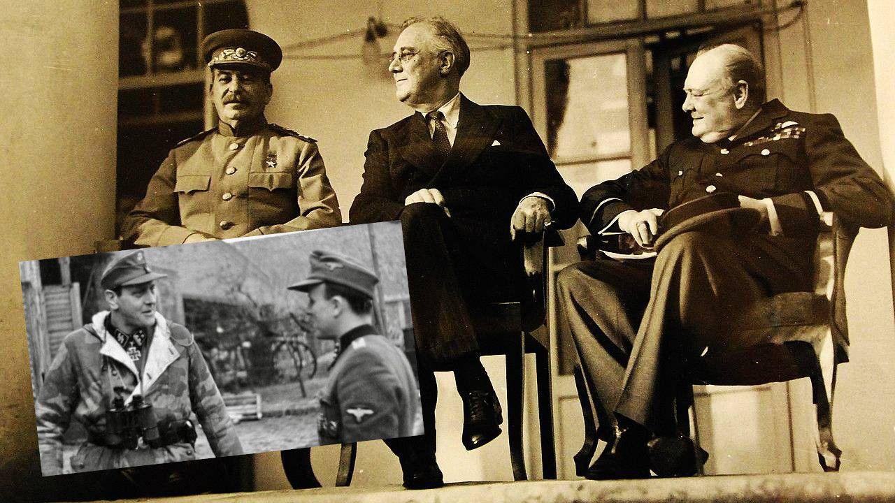 Stalin, Roosevelt i Churchill stali się celem niemieckich komandosów (fot. National Museum of the U.S. Navy, Bundesarchiv)