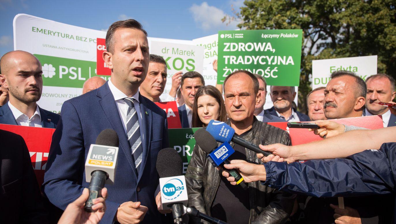 Kosiniak-Kamysz i Kukiz w sobotę będą spotykać się z wyborcami m.in. w Radzyniu Podlaskim, Rykach, Chełmie, Hrubieszowie, Zamościu, Kraśniku (fot. PAP/Wojtek Jargiło)