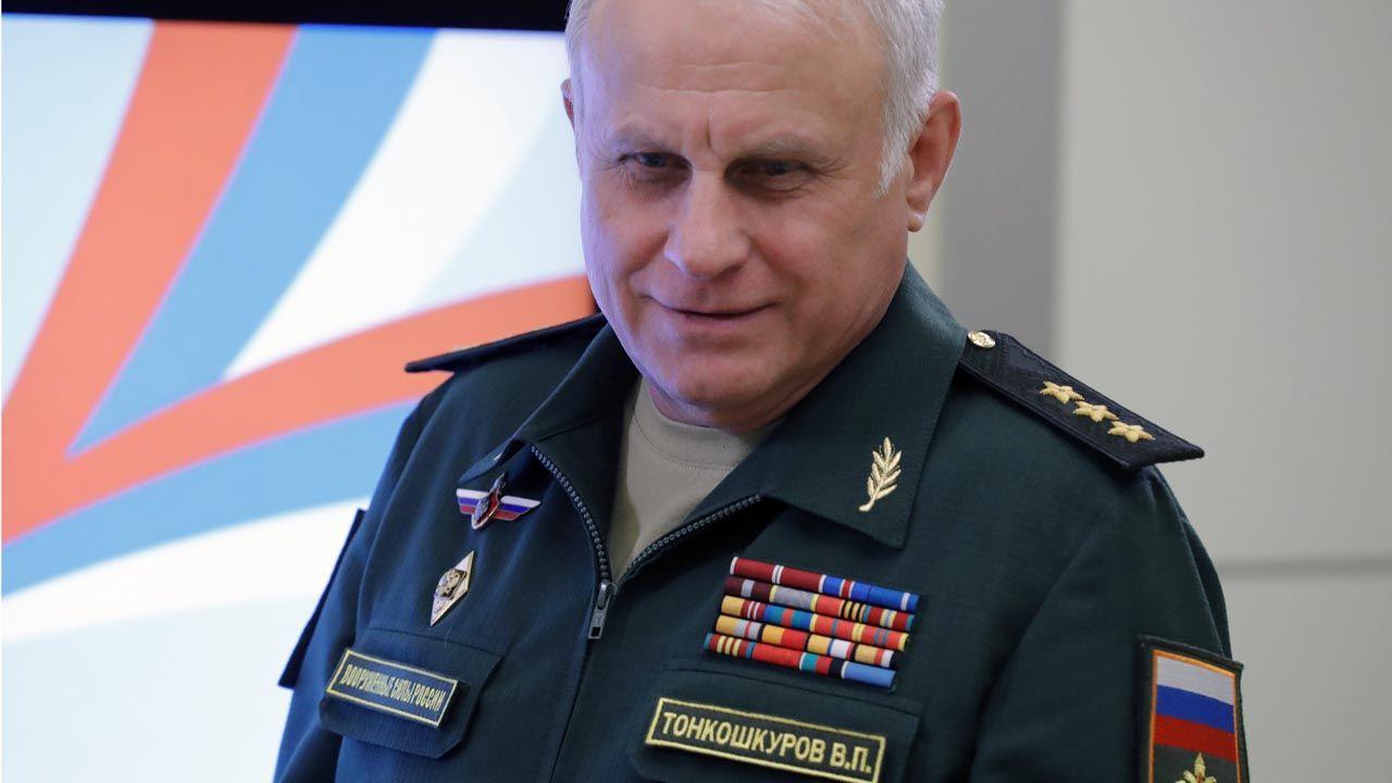 Do Caracas przyleciał m.in. szef sztabu rosyjskich wojsk lądowych, generał Wasilij Tonkoszkurow (fot. Mikhail Metzel\TASS via Getty Images)
