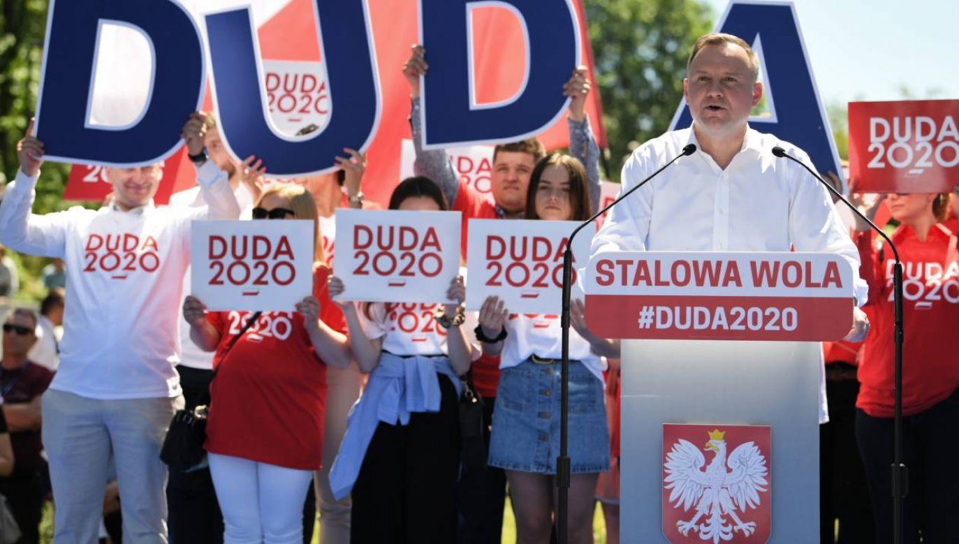 Prezydent kontynuuje starania o reelekcję (fot. PAP/Darek Delmanowicz)
