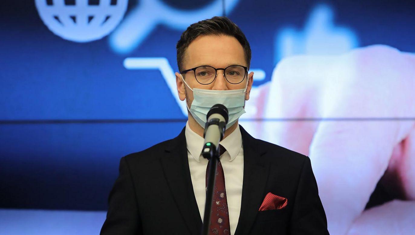 Waldemar Buda mówił o programie Polski Ład (fot. PAP/Wojciech Olkuśnik)