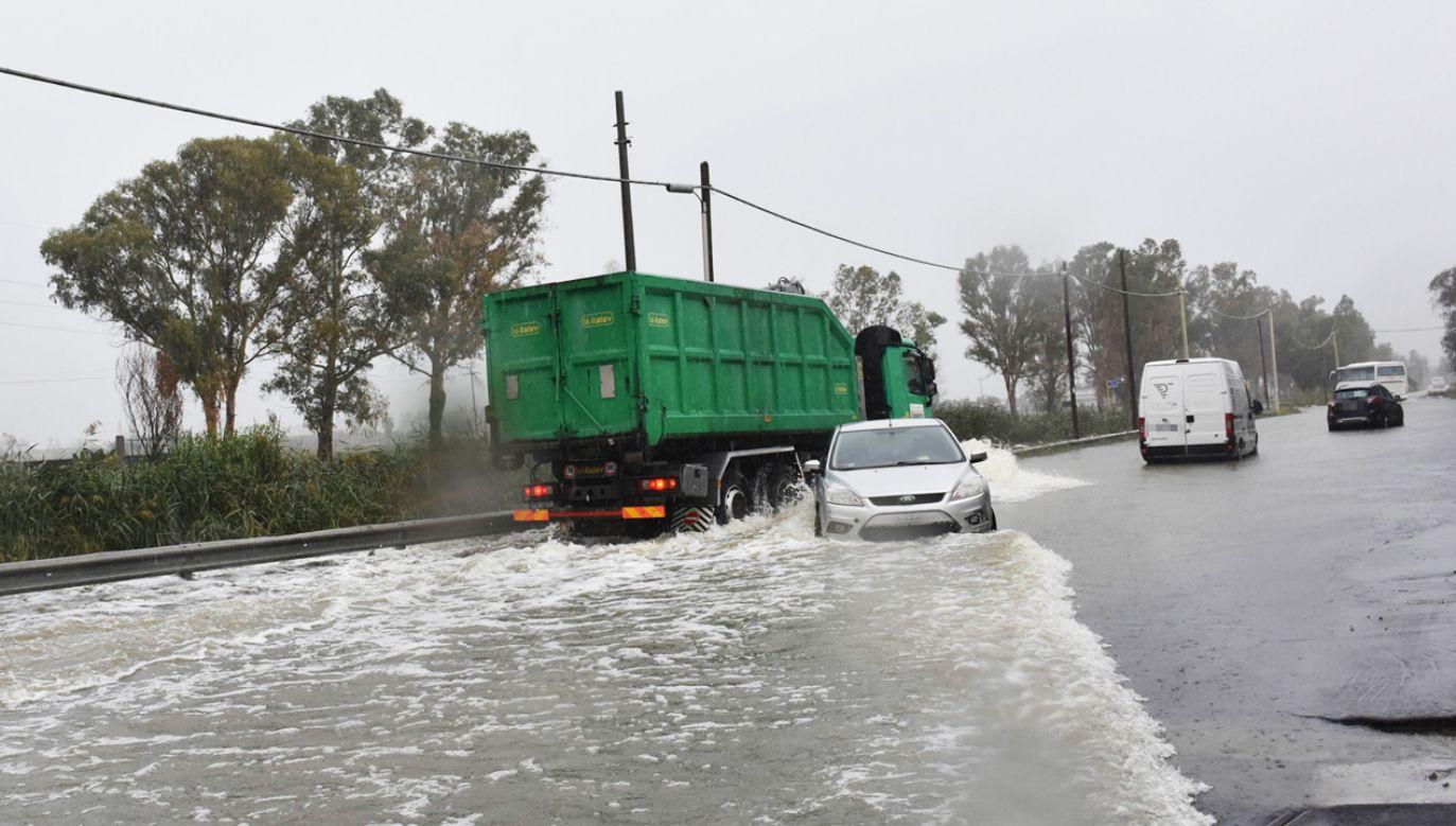 Powódź na Sycylii (fot. PAP/EPA/ORIETTA SCARDINO)