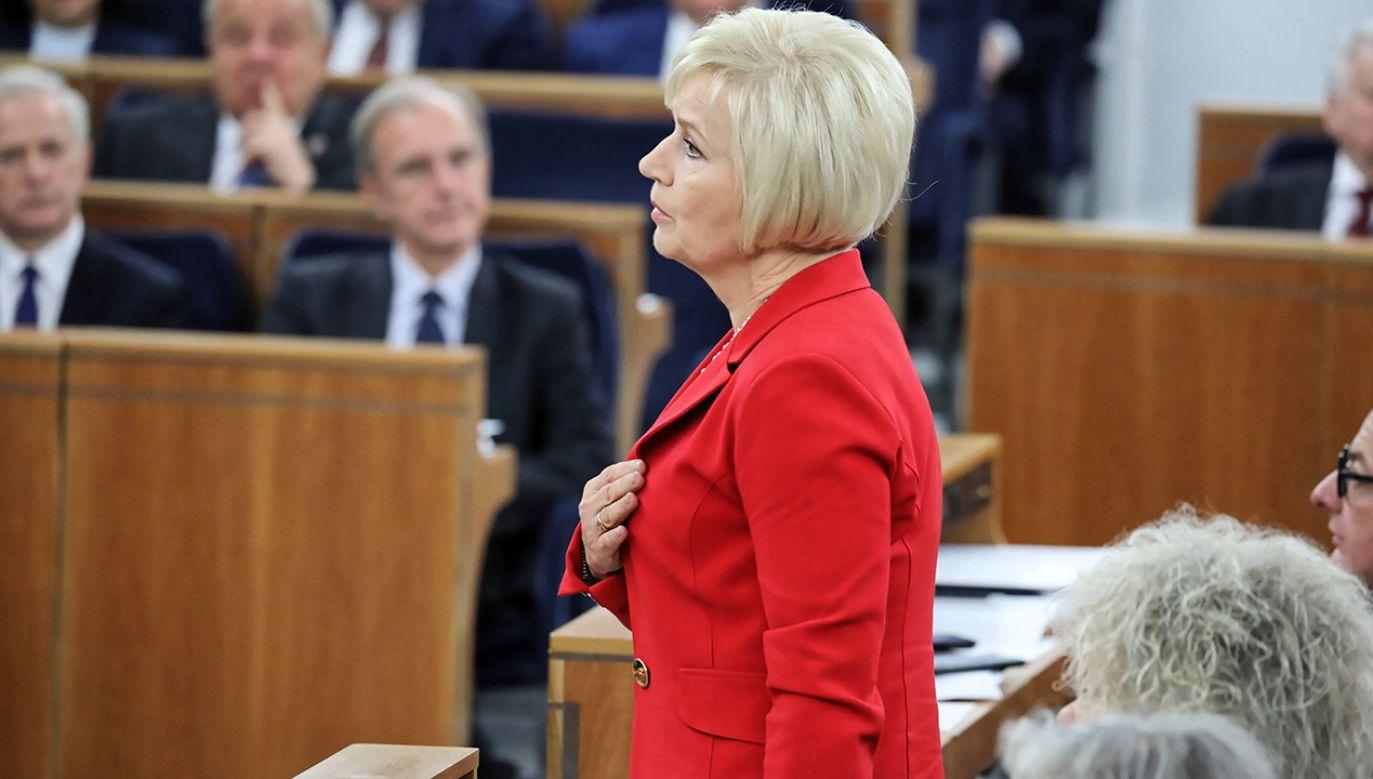 Senator Staroń do sędziego Zabłockiego z SN: Czy pan, panie prezesie nie czuje, że jest takie przyzwolenie? (fot. arch.PAP/Tomasz Gzell)