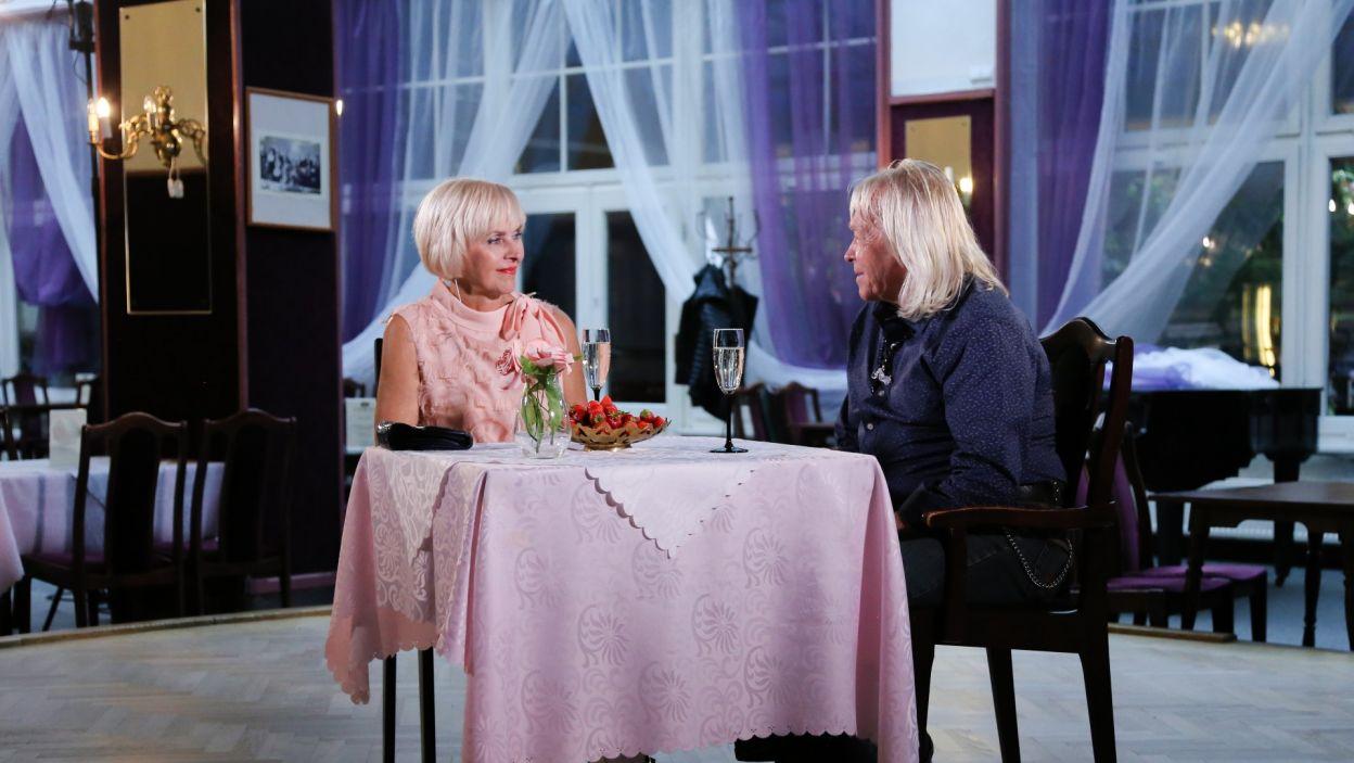 Tymczasem Zdzisław udał się już na kolejną randkę, bowiem to właśnie jego scenariusz randki w ciemno wybrała kuracjuszka Krysia. (fot. TVP)