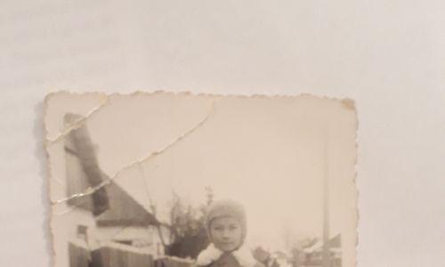 Rok szkolny 1938/39. Maria Gordziejko chodzi do pierwszej klasy, Święta Wola na Polesiu. Fot. Archiwum prywatne