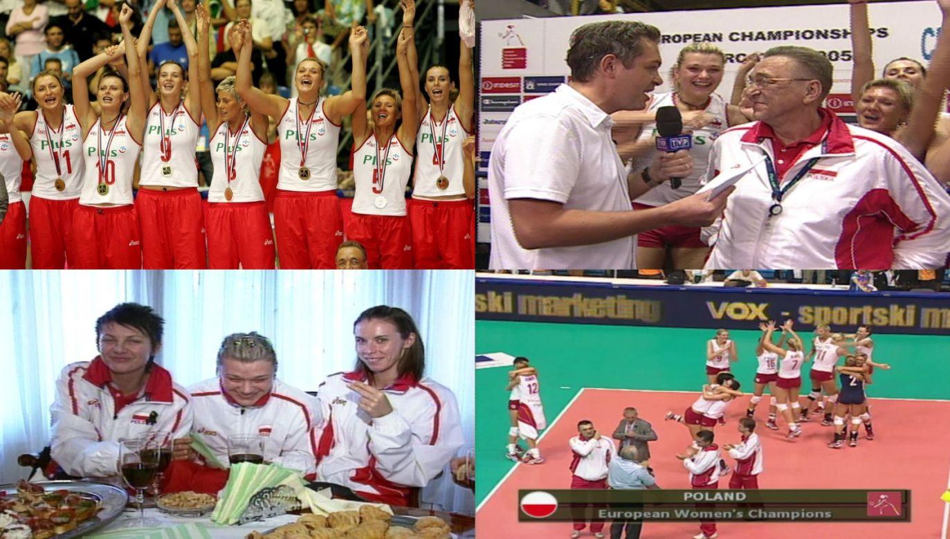 W 2005 roku polskie siatkarki po raz drugi zostały mistrzyniami Europy (fot. TVP/PAP)