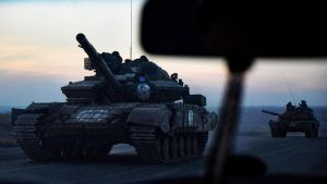 Rosja gromadzi wojska przy granicy z Ukrainą (fot. Pierre Crom/Getty Images)
