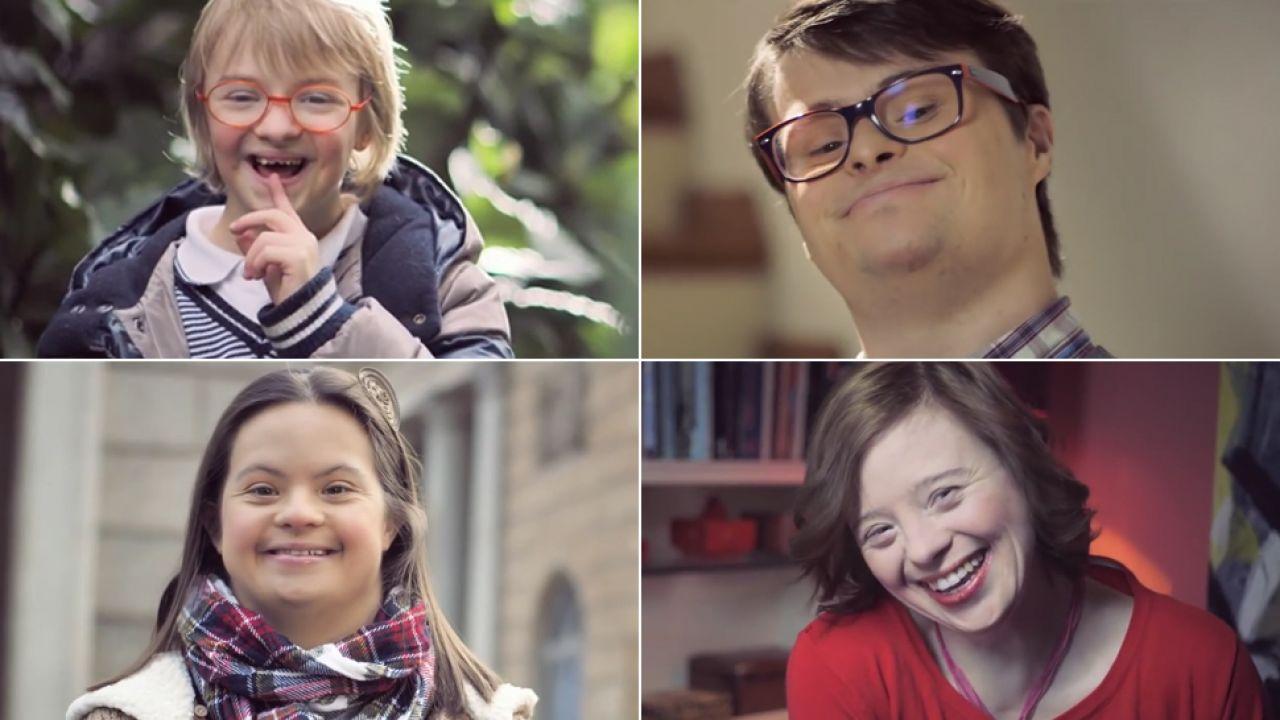 Francuskie władze uznały, że wizerunek dzieci z zespołem Downa powinien być cenzurowany (fot.youtube.com/ CoorDown)