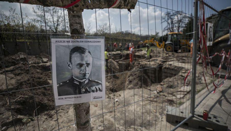 Ciało rtm. Pileckiego pochowano anonimowo w kwaterze Ł na Powązkach Wojskowych (fot. IPN)
