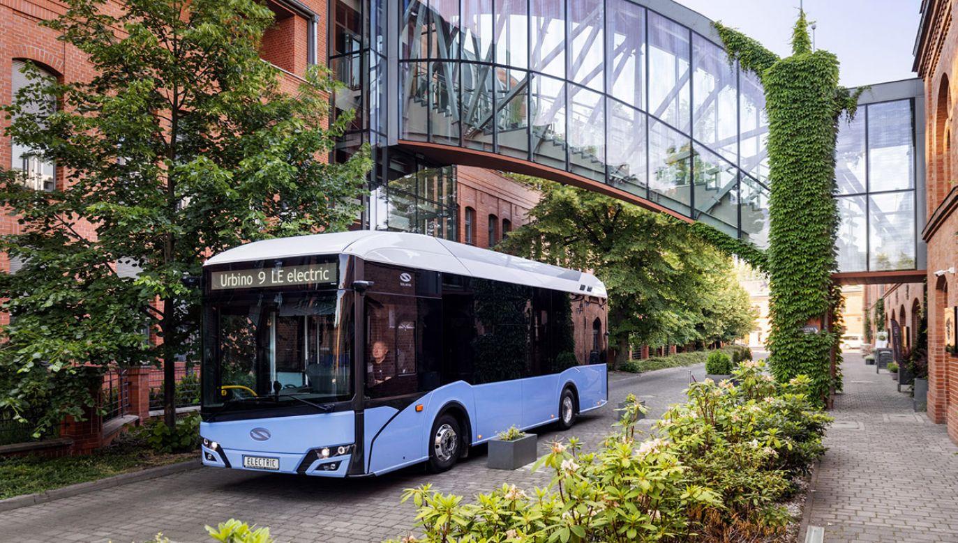 Debiut autobusu elektrycznego Urbino 9 LE electric na targach w Kielcach (fot. Materiały prasowe)