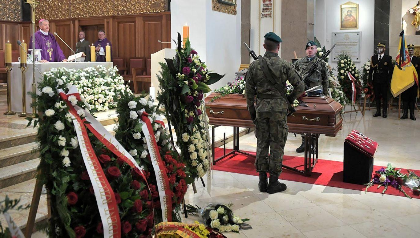 List prezydenta odczytano podczas uroczystości pogrzebowych Bernarda Ładysza (fot. PAP/Radek Pietruszka)