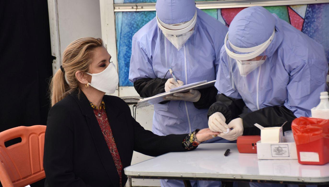 Zapewniła jednak, że czuje się dobrze i będzie pracować w izolacji (fot. Reuters)