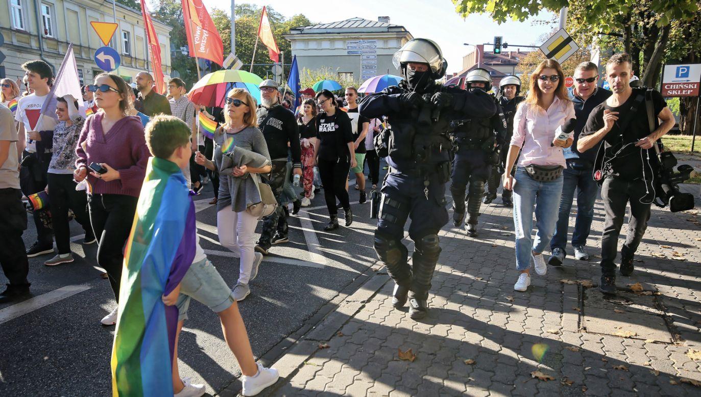 Pierwszy Kaliski Marsz Równości (fot. PAP/Tomasz Wojtasik)