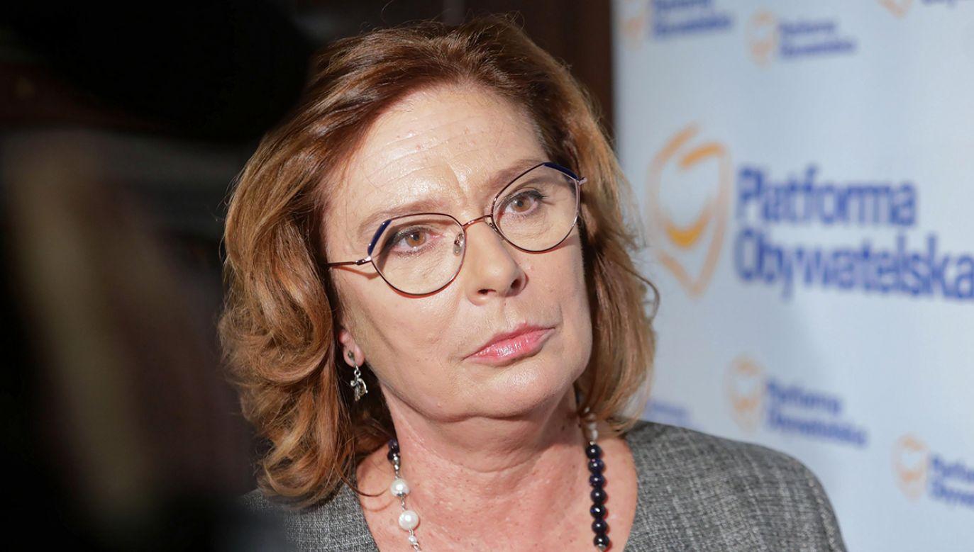 Małgorzata Kidawa-Błońska co najmniej pięciokrotnie głosowała przeciwko dodatkowym środkom na onkologię – przekonywali Stanisław Karczewski i Adam Bielan (fot. arch. PAP/Artur Reszko)