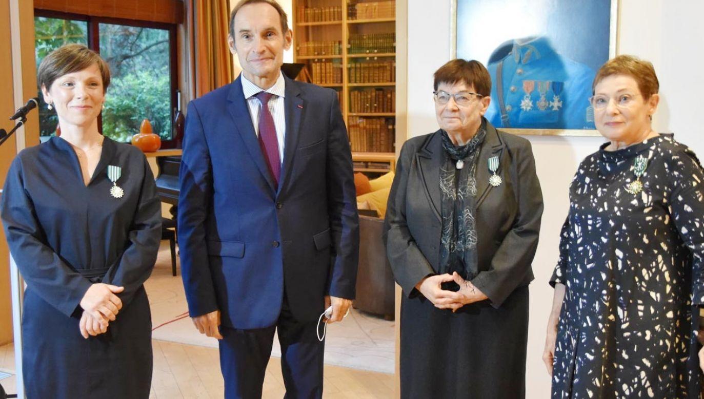 Wręczenie Orderu Sztuki i Literatury (fot. Facebook/Ambassade de France en Pologne)