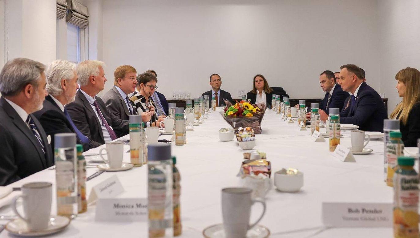 Prezydent Duda spotkał się z przedstawicielami amerykańskiego biznesu (fot. KPRP/Jakub Szymczuk)