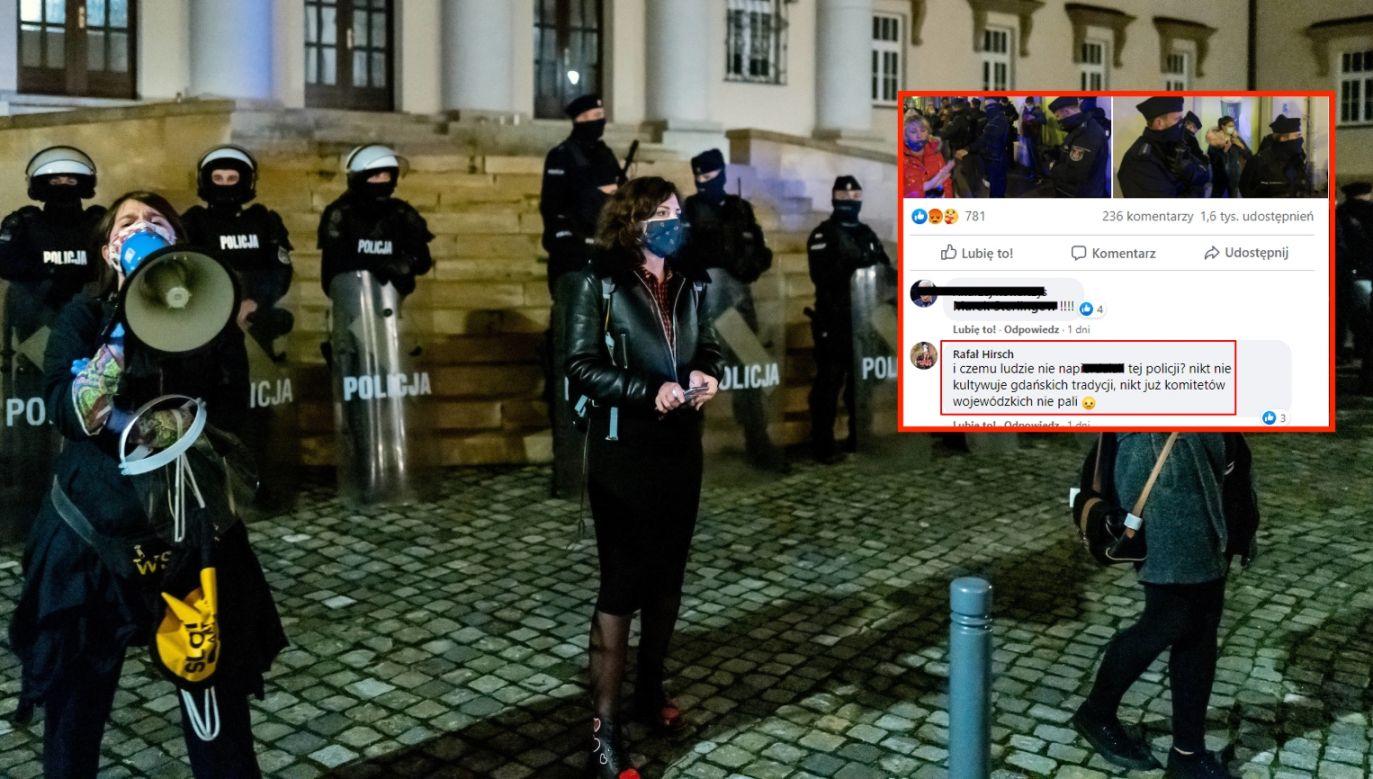 Aborcja. Protest po wyroku TK (fot. PAP/Andrzej Grygiel, twitter.com/fideista)