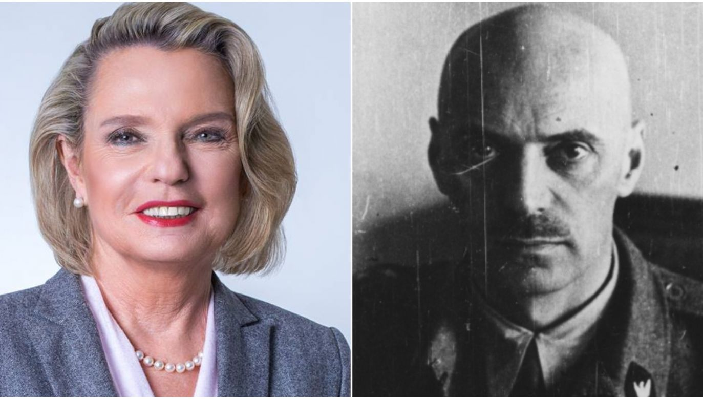 Poland's Ambassador to Italy Anna Maria Anders (L) told 'La Stampa' about her father General Władysław Anders' (R) life. Photo: Wikimedia Commons/P.Mojsak; Twitter/@PremierRP_en