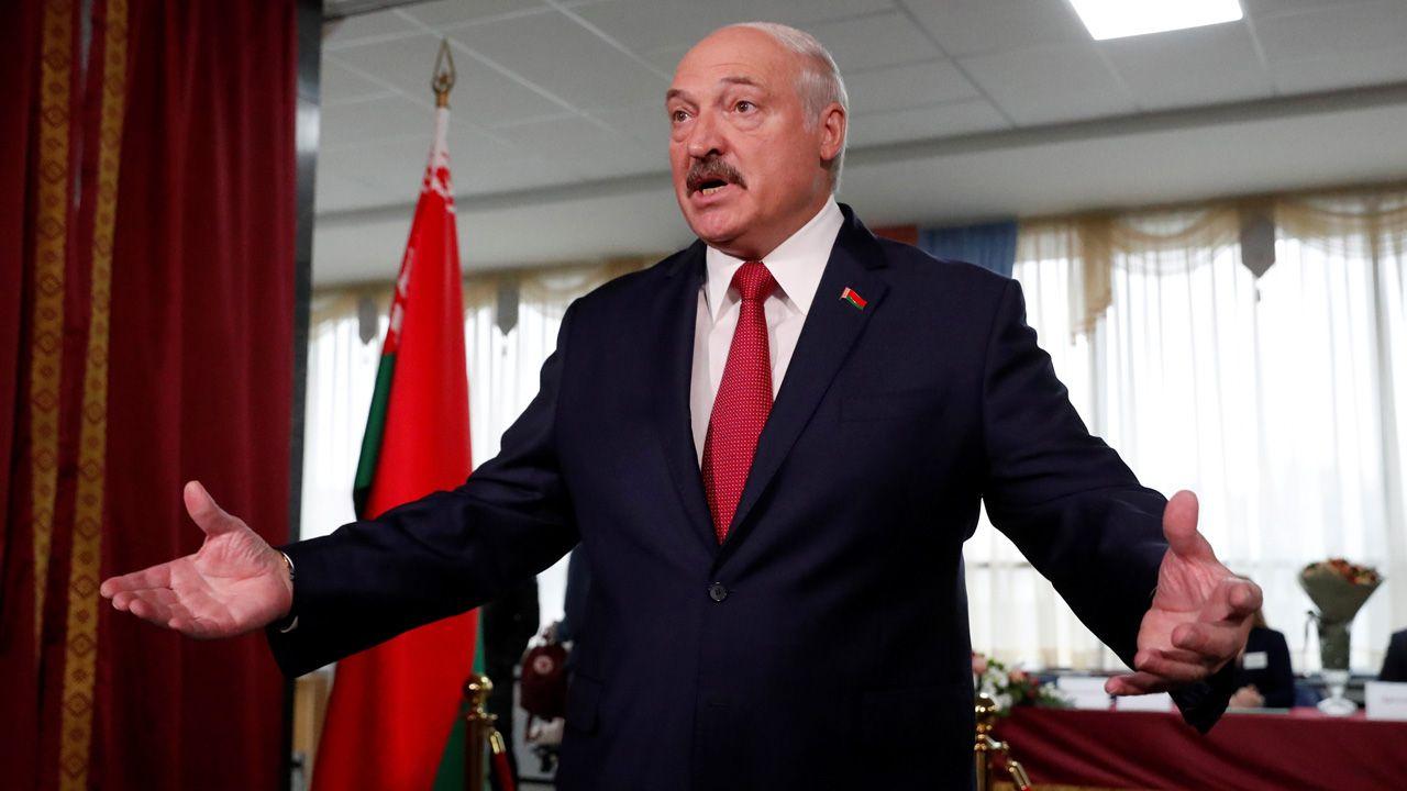 Dodał, że jeśli Polska tego chce, to Białoruś jest i zawsze była gotowa mieć z nią dobre i przyjazne relacje (fot. PAP/EPA/VASILY FEDOSENKO / POOL)(fot. Reuters/Vasily Fedosenko)