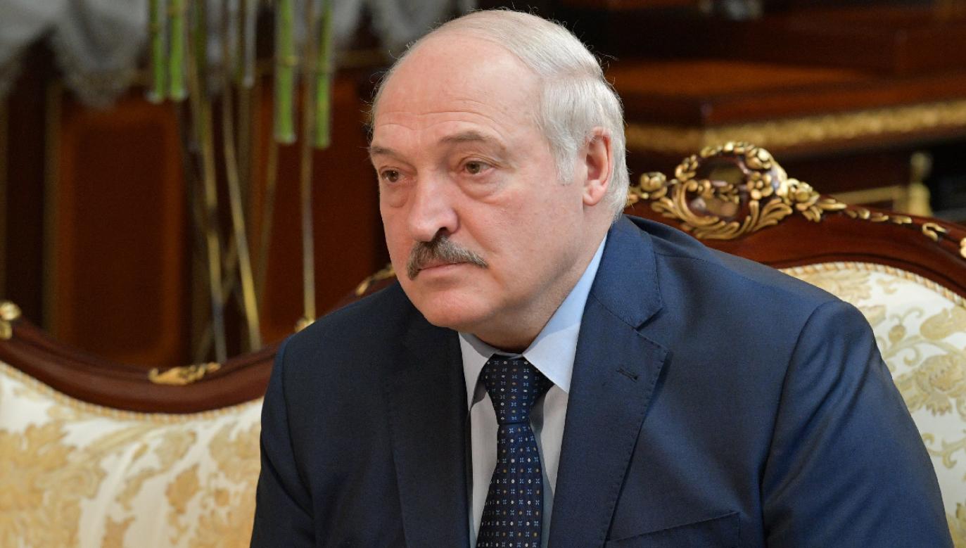 Prezydent Białorusi Alaksandr Łukaszenka (fot. PAP/EPA/ALEXANDER ASTAFYEV / SPUTNIK / GOVERNMENT PRESS SERVICE POOL)