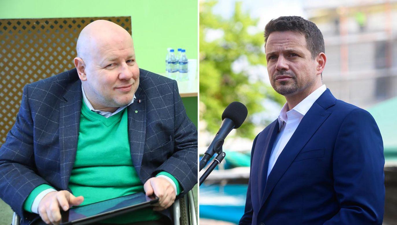 – Rafał Trzaskowski w żadnym z sondaży nie przekroczył jeszcze 30 proc., a tyle miała Małgorzata Kidawa-Błońska – powiedział senator Libicki (fot. PAP/Rafał Guz, Jakub Kaczmarczyk)