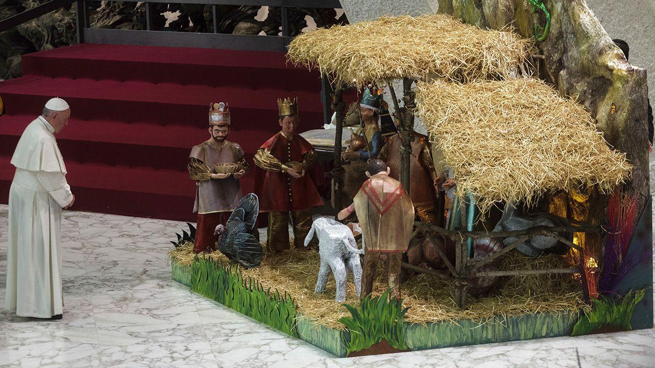 Papież wezwał, by nie zeświecczać Bożego Narodzenia (fot. Giuseppe Ciccia/Pacific Press/LightRocket/Getty Images)