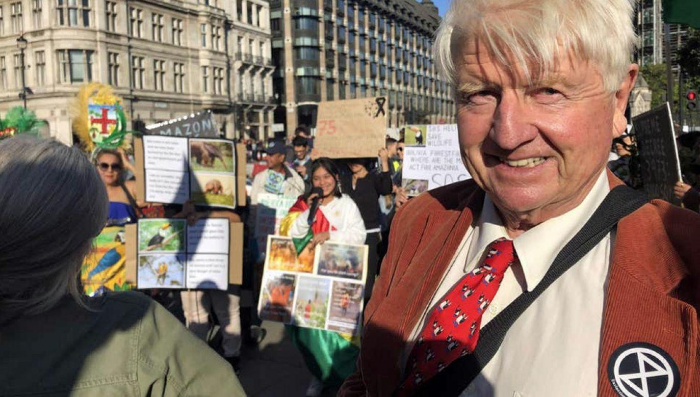 Stanley Johnson zapewnił, że jego synowi zależy na walce ze zmianami klimatu (fot. TT/Zion Lights)