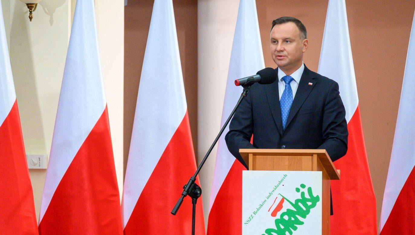Andrzej Duda uczestniczy w uroczystościach 146. rocznicy urodzin historycznego przywódcy PSL (fot. PAP/Paweł Topolski)