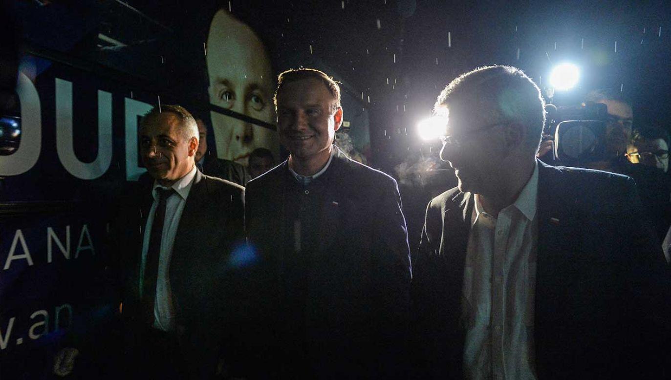 W 2015 r. na czele sztabu wyborczego Andrzeja Dudy stała Beata Szydło (fot. arch. PAP/Marcin Obara)